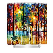 Blue Refelctions Shower Curtain