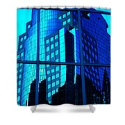 Blue Reflections ... Shower Curtain