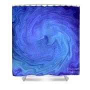 Blue Rendevous Shower Curtain