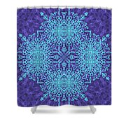 Blue Resonance Shower Curtain