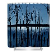 Blue Reservoir - Manasquan Reservoir Shower Curtain