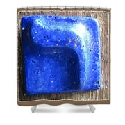 Blue Resh Shower Curtain