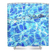 Blue Rhapsody  Shower Curtain