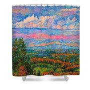 Blue Ridge Cloud Burst Shower Curtain