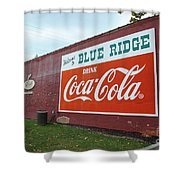 Blue Ridge Coke Shower Curtain