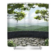 Blue Ridge Shower Curtain