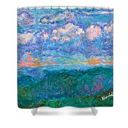 Blue Ridge Magic From Sharp Top Stage One Shower Curtain