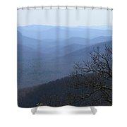Blue Ridge Mountain Majesty Shower Curtain