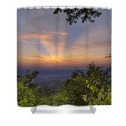 Blue Ridge Mountain Sunset Shower Curtain