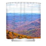 Blue Ridge Mountains 3 Shower Curtain