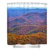 Blue Ridge Mountains 4 Shower Curtain
