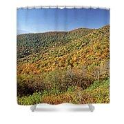 Blue Ridge Mountains In Autumn Shower Curtain