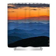 Blue Ridge Mountains. Shower Curtain