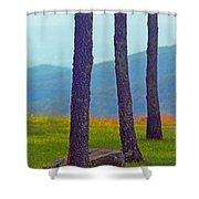 Blue Ridge Mountains Of Virginia Shower Curtain