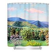 Blue Ridge Mountains Shower Curtain