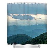Blue Ridge Mountains View From Craggy Garden Shower Curtain