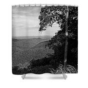 Blue Ridge Mountains - Virginia Bw 10 Shower Curtain