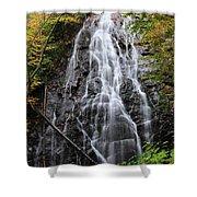 Blue Ridge Parkway Crabtree Falls In Autumn Shower Curtain