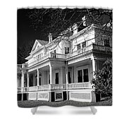 Blue Ridge Parkway Flat Top Manor Bw Shower Curtain