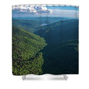 Blue Ridge Parkway Rainbow Gap Shower Curtain