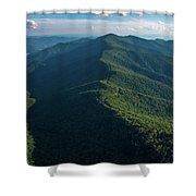 Blue Ridge Parkway Shadow Shower Curtain