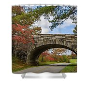 Blue Ridge Parkway Stone Arch Bridge Shower Curtain
