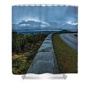 Blue Ridge Parkway Twisty Shower Curtain