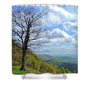 Blue Ridge Parkway Views - Rock Castle Gorge Shower Curtain