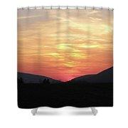 Blue Ridge Sunset Shower Curtain