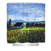Blue Ridge Valley Shower Curtain
