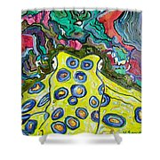 Blue Ringed Octopus Shower Curtain