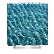 Blue Ripples Shower Curtain