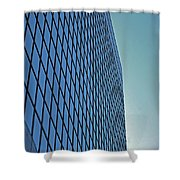 Blue Rise Shower Curtain
