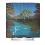 Blue River Two Shower Curtain
