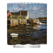 Blue Rocks, Nova Scotia Shower Curtain