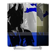 Blue Romance Shower Curtain by Naxart Studio