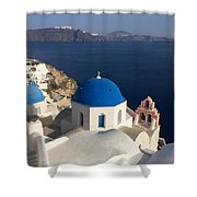Blue Roofs Shower Curtain