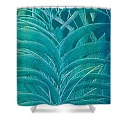 Blue Sago Shower Curtain
