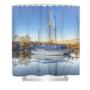 Blue Sail Shower Curtain