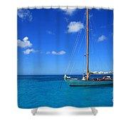 Blue Sailing Shower Curtain