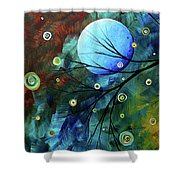 Blue Sapphire 1 By Madart Shower Curtain