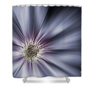 Blue Satin Shower Curtain