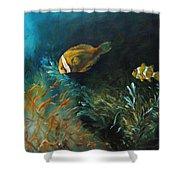 Blue Seas Shower Curtain