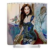 Blue Secret Shower Curtain