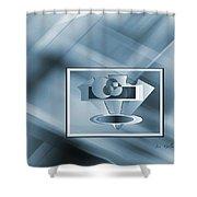 Blue Series #2 Shower Curtain