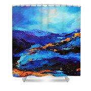 Blue Shades Shower Curtain