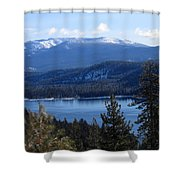 Blue Sierra Lake Shower Curtain