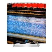 Blue Silk Machine Shower Curtain