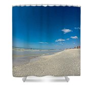 Blue Skies And Soft Sand Shower Curtain