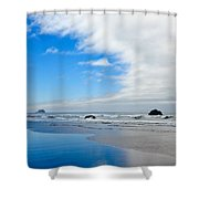 Blue Sky Beaches Shower Curtain